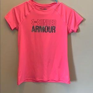 Under armor pink tee
